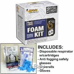 Foam House Insulation Spray Kit With Foam Gun Hoses Gloves Etc Weatherproofing Set