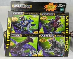 Hasbro Tomy 2001 Zoids Rare 4-pack Sealed Rev Raptor Gun Sniper Bear & Redler