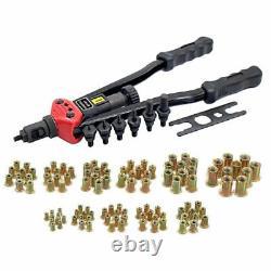 Heavy Duty Thread Rivet Nut Tool Gun Riveter Rivnut Nutsert Riveting Kit M3-M12