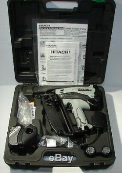-Hitachi NT65GB P9 KIT 2-1/216GA Gas Angle Nail Gun 2019 110-240v+car ch. 12v