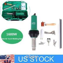 Hot Air Gun Welding Torch 1600W Heat Gun Plastic Welder Welder Kits With4 Nozzle