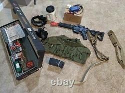 ICS CXP HOG complete airsoft kit(gear, extra mags, chargers, ammo)