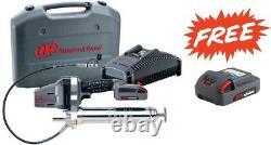 Ingersoll Rand LUB5130-K12 20v Grease Gun Kit with(2) 2.5Ah Batteries