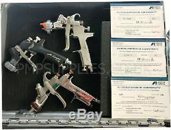 Iwata Triple Spray Gun Kit BARGAIN W400 1.3 Bellaria Junior 1.0 Chrome Flash 1.8
