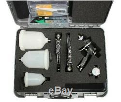 Iwata Triple Spray Gun Kit BARGAIN WS400 1.3HD, Junior 1.0, Chrome Flash 1.8