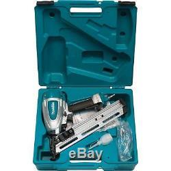 MAKITA AF635 NEW 15 Gauge 2-1/2 Air Angled Finish Nailer 34 Nail Gun Kit
