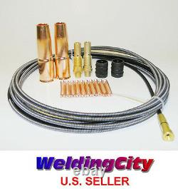 MIG Welding Gun Kit. 035 for Lincoln 200 Tweco #2 Tip-Diffuser-Nozzle-Liner M7L