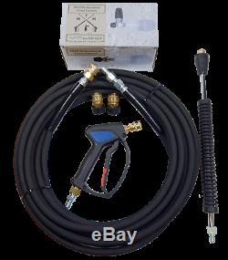 MTM Hydro Parts PF22 Premium Foam Cannon Complete Kit 3 Gun Hose Quick Connect