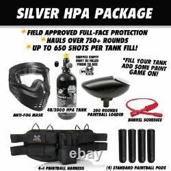 Maddog Azodin Blitz 4 Silver HPA Paintball Gun Marker Starter Kit Blue / Orange