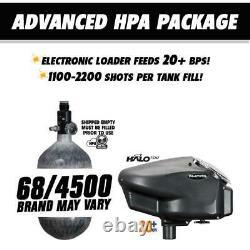 Maddog Empire Mini GS HPA Paintball Gun Kit C Dust Black 2-pc Barrel