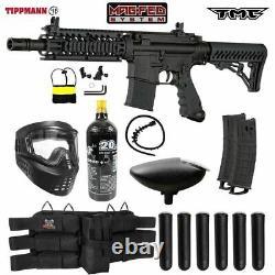Maddog Tippmann TMC MAGFED Titanium CO2 Paintball Gun Marker Starter Kit Black