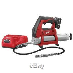 Milwaukee 2446-21XC M12 Cordless Grease Gun Kit with XC Battery, Case, Charger