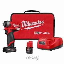 Milwaukee 2552-22 M12 FUEL Stubby Cordless 1/4 Drive Impact Gun Wrench Kit