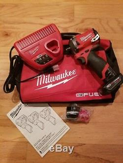 Milwaukee 2554-22 M12 FUEL Stubby Cordless 3/8 Drive Impact Gun Wrench KIT NEW
