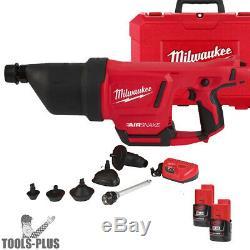 Milwaukee 2572B-21 M12 AIRSNAKE Drain Cleaning Air Gun Kit New