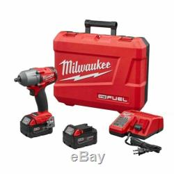 Milwaukee 2861 M18 FUEL Mid Torque Impact Gun Wrench Kit With 2 Batteries Charger