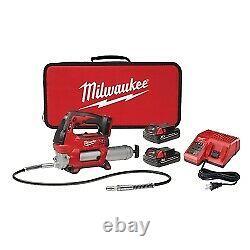 Milwaukee Electric Tools 2646-22CT M18 CORDLESS 2-SPEED GREASE GUN (2) BATT KIT