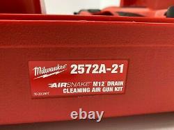 Milwaukee M12 Airsnake 12 Volt Cordless Lithium Ion Drain Cleaning Air Gun Kit