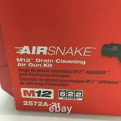 Milwaukee M12 Airsnake Drain Cleaning Air Gun Kit 12-V 2572A-21