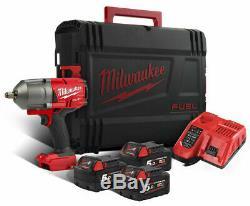 Milwaukee M18FHIWF12-503X Fuel 1/2in Impact Gun F/R 3 x 5.0Ah Li-ion 4933471259