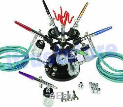Multi Color Artist Painter Airbrush Gun Tattoo Detail Paint Sprayer Kit Holder