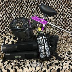 NEW Azodin Blitz 3 EPIC Paintball Marker Gun Package Kit Purple/Silver