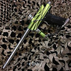 NEW Azodin Blitz 3 LEGENDARY Paintball Marker Gun Package Kit Green/Silver