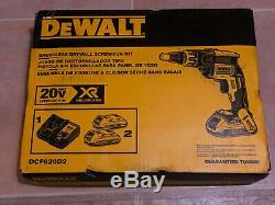 NEW DEWALT XR 20v Max Lithium Ion Brushless Screw Gun Kit DCF620D2