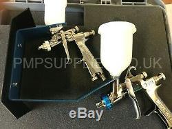 NEW Iwata Smart Repair Kit W300 & LPH80 1.2mm Spray Guns Carry Case + Accesories