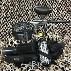 NEW Kingman Spyder Fenix EPIC Paintball Marker Gun Package Kit Silver/Grey
