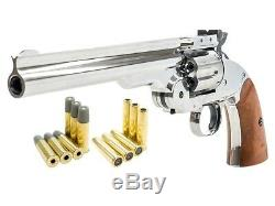 (NEW) Schofield No. 3 Nickel Dual Ammo CO2 BB Gun Kit, Full Metal by Barra