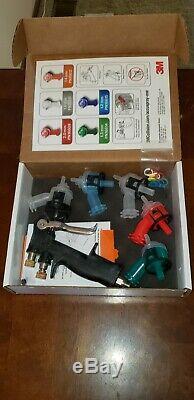 New 3M Accuspray One Spray Gun Kit 16578 Multi Tip Auto Body Paint System