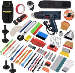 New Car Wrapping Tools Set Heat Gun Squeegee Magnets Window Tint Tool Bag Kit