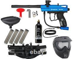 New Kingman Spyder Victor Epic Complete Paintball Gun Package Kit Gloss Blue