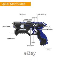 Pack of 4 Small Laser Gun Kit with 4 Vests (Red / Blue / Green / Orange)