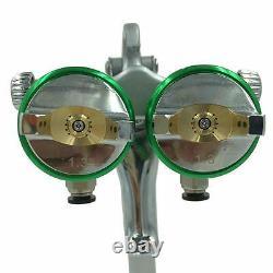 Paint Spray Air Gun SAT1189 Hvlp Feed Gravity Kit New 2 Sprayer Auto 1 Car Press