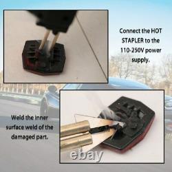 Plastic Welder Car Repair Tool Hot Stapler Gun PVC Bumper Garage Machine Kit 50W