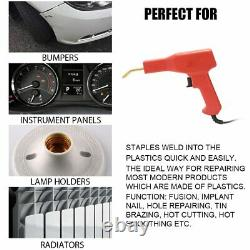 Plastic Welder Hot Stapler Machine Gun Garage Tool Kit Repair PVC Car Bumper US