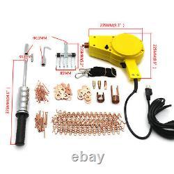 Premium Auto Body DENT REPAIR KIT Electric STUD WELDER GUN with 2lb Puller Hammer