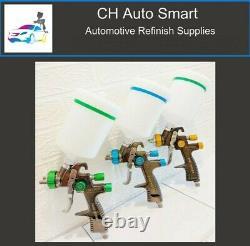 Premium Quality 1.3 1.4 & 1.8mm LVLP Gravity Feed Spray Gun Kit FREE SHIPPING