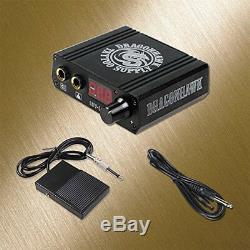 Professional Complete Top Rotary Tattoo Kit motor pen machine gun Power Supply