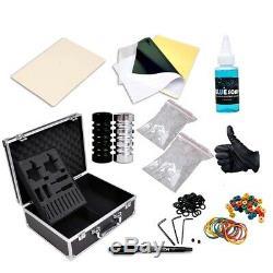 Professional Machine Gun Power Starter Complete Tattoo Kit Supply Needle Ink Set