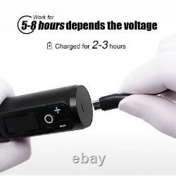 Professional Wireless Tattoo Machine Pen Kit Digital Coreless Motor Tattoo Gun