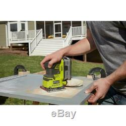 RYOBI Cordless 3 Power Tool Kit Glue Gun Sander Trim Router Electric 18 Volt