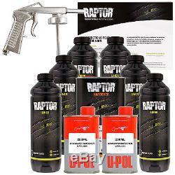 Raptor Black Urethane Spray-On Truck Bed Liner Spray Gun, 6 Liters