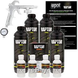 Raptor Bright White Urethane Spray-On Truck Bed Liner Spray Gun, 4 Liters