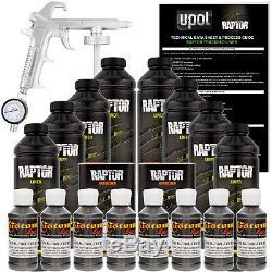 Raptor Charcoal Metallic Urethane Spray-On Truck Bed Liner Spray Gun, 8 Liters