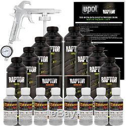 Raptor Dove Gray Urethane Spray-On Truck Bed Liner Spray Gun, 8 Liters