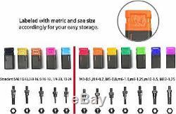 Rivet Gun Kit 115 PC Set Nut Setter Hand Tool Metric SAE Mandrel 16 Fastener