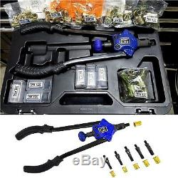 Rivet Gun Kit Rivet Nut Tool Hand Riveter 1/2 Capacity Nut Setter Nutsert Rivnu